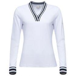 CROSS - Polo manches longues Nostalgia Blanc